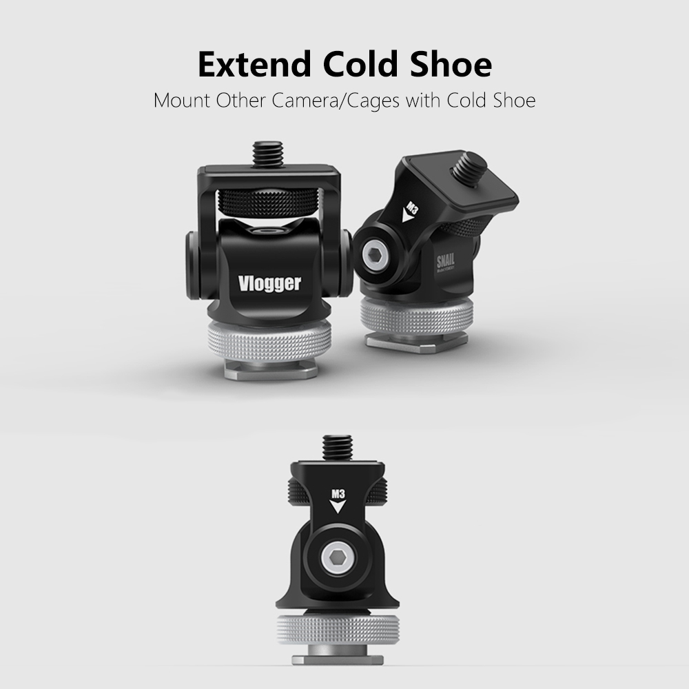 Vlogger V1.2 Video Monitor Hot Shoe Mount, Camera Monitor Holder with Cold Shoe for Microphone LED Video light DSLR Rig CageVlogger V1.2 Video Monitor Hot Shoe Mount, Camera Monitor Holder with Cold Shoe for Microphone LED Video light DSLR Rig Cage