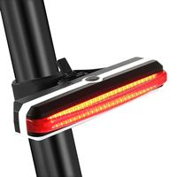 LumiParty USB Rechargeable Bike Tail Light Powerful 100 Lumens LED 5 Modes Flashing Safety Light Cycling