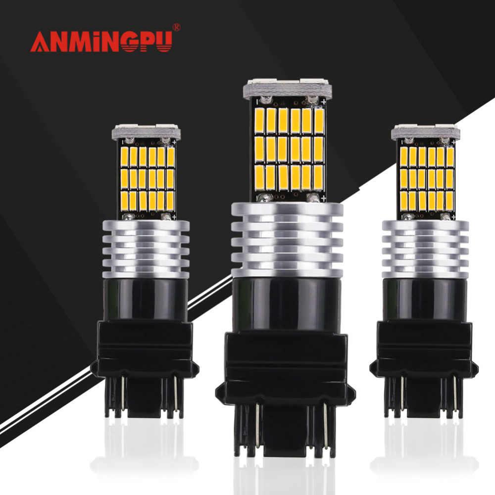 ANMINGPU 2x45 4014SMD сигнальная лампа T25 3157 Led Canbus 3156 P27W P27/7 W Led Автомобильный тормоз Фары заднего хода указатель поворота задние фонари 12 V
