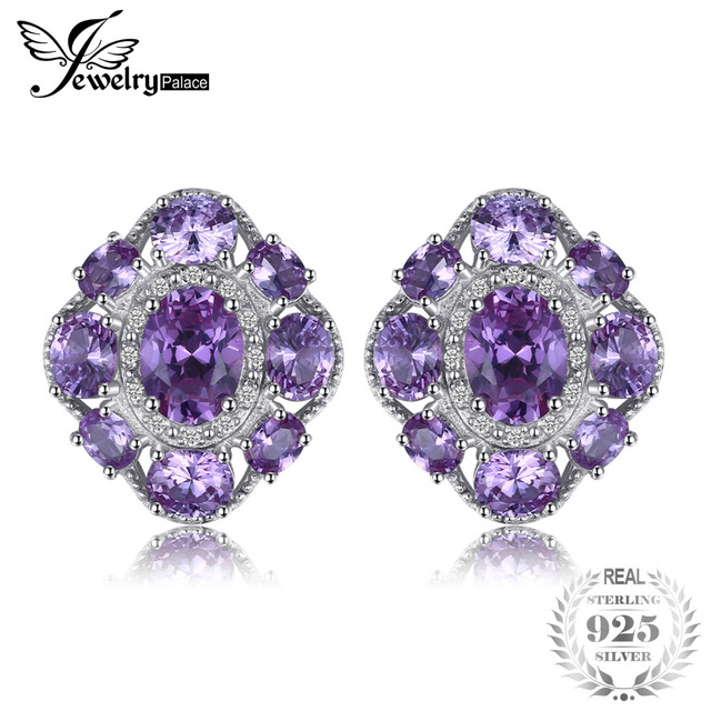 stud gemstone products earrings colored gold alexandrite