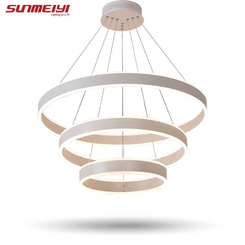 Nové moderní 3 kruhové kroužky LED závěsná světla do - Vnitřní osvětlení - Fotografie 6