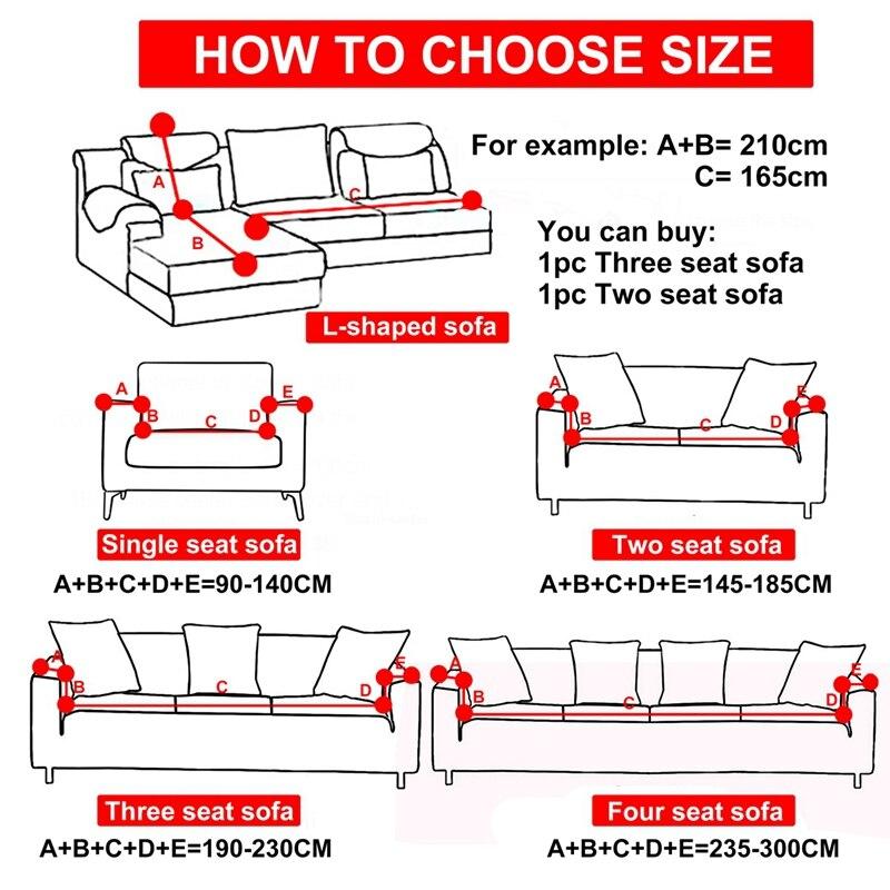 Image 5 - 1/2/3/4seater Slipcover Stretch Four Season Sofa Cover Printing Sofa Cover Spandex Modern Elastic Polyester Couch Sofa Slipcover-in Sofa Cover from Home & Garden