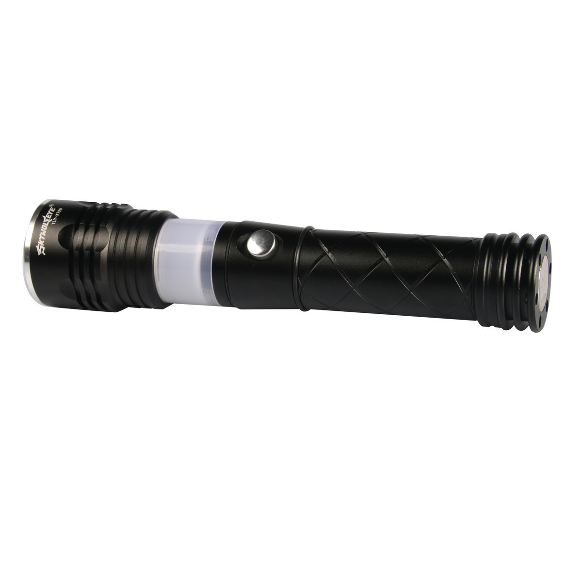 Skywolfeye led flashlight t6 zoomable 3 modes aluminium torch skywolfeye led flashlight t6 zoomable 3 modes aluminium torch camping lamp tail with magnet 18650 rechargeable battery charger in flashlights torches from parisarafo Gallery