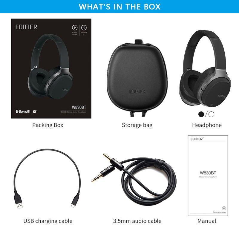 Image 5 - EDIFIER W830BT Wireless Headphones Bluetooth v4.1 wireless earphone aptX codec NFC tech with 95 hours of playback-in Phone Earphones & Headphones from Consumer Electronics