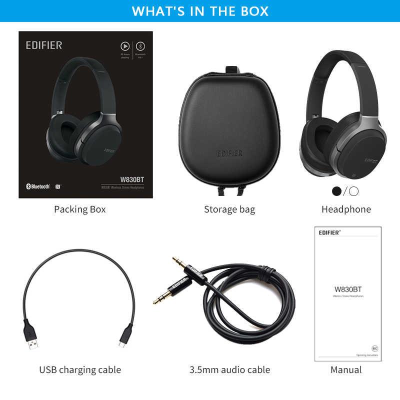 EDIFIER W830BT słuchawki bezprzewodowe Bluetooth v4.1 bezprzewodowe słuchawki aptX kodek NFC tech z 95 godzinami odtwarzania