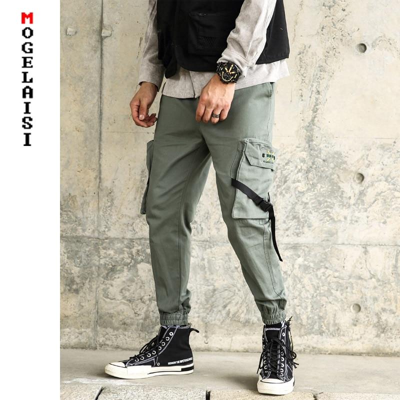 Herrenbekleidung & Zubehör LiebenswüRdig Herren Streetwear Cargo Hosen 2019 Frühling High Street Jogger Männer Hip Hop Hosen Casual Hosen Cargo Hosen Sportswear Am915xk QualitäTswaren