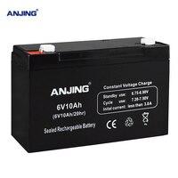 6V 10AH Battery 6V 10AH for Backup Power LED emergency Light Children Toy Car Lead acid Accumulator Replacement Maintenance