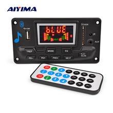 Bluetooth MP3 декодер AIYIMA 12 В 4,2, аудиомодуль, дисплей спектра без потерь, поддержка декодирования APE EQ FM AUX, автомобильные аксессуары