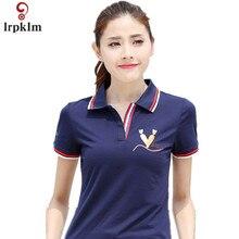 2017 Summer style Casual Women Polo Shirt Brand Shirt Carrot Print Slim Breathable Short Sleeve Shirt
