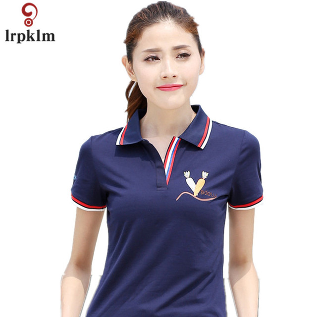 2017 Summer style Casual Women Polo Shirt Brand Shirt Carrot Print Slim  Breathable Short Sleeve Shirt For Feminina Plus Size 930 a058b5e412d8