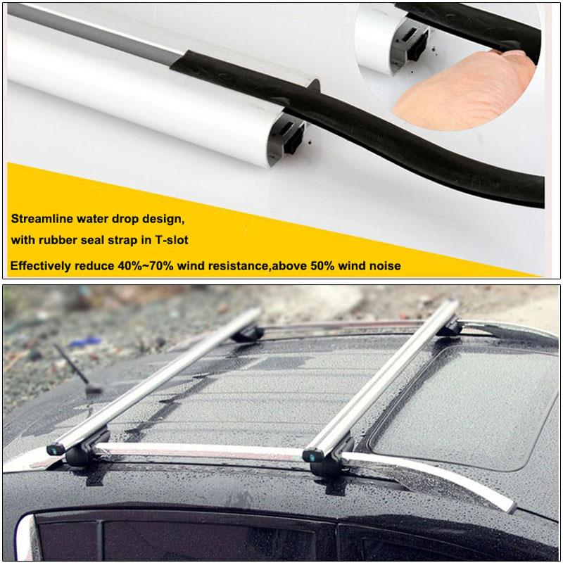 2x universal adjustable silver 120cm aluminum car top roof. Black Bedroom Furniture Sets. Home Design Ideas