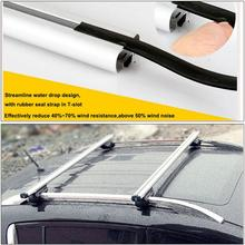 2x Universal Adjustable Silver 120cm Aluminum Car Top Roof Rack Cross Bar Luggage With Security Lock Carrier System