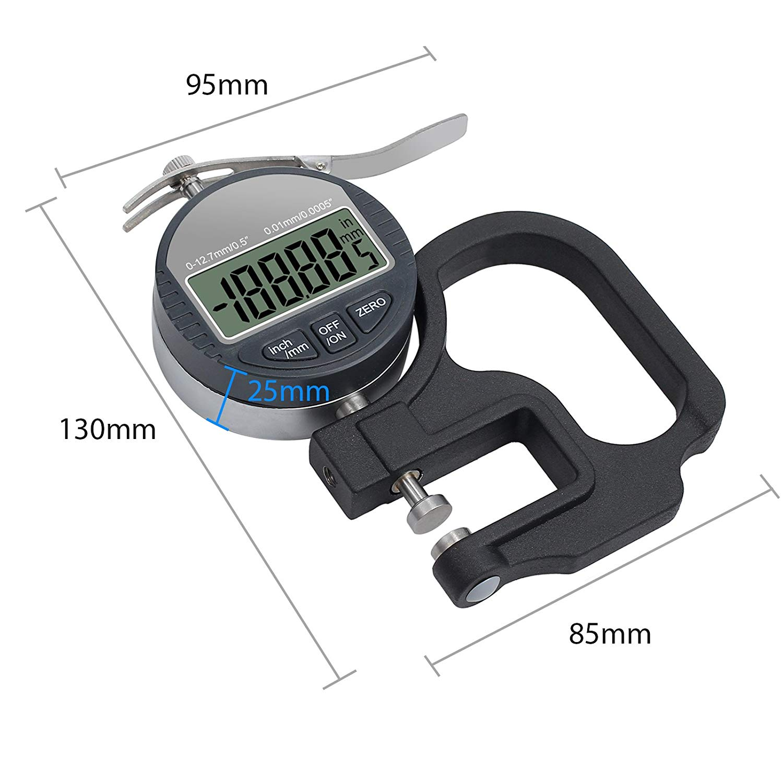 Meter Digital 0 Bis Tester 12,7 Mm Dicke Mikrometer lc