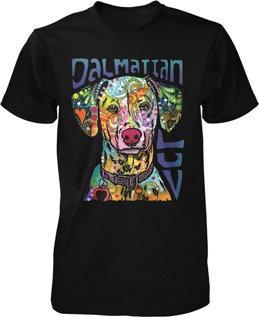 2a9d0ff56 Printed T Shirts Online Dalmatian Luv Love my Dalmatian Men's T-shirt Crew  Neck Casual Short Tee Shirts For Men