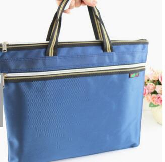 CS-8216 Oxford Cloth Portable A4 Paper Bag Non-woven Double-layer Zipper Ball Bag