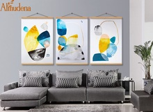 Nordic Poster Abstract Canvas Painting with Framed 3 Panels Modern Home Decoration Living Room Backdrop Wall