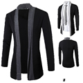 Nuevo Hombre Causual Moda Trench Coat Parka Abrigo chaqueta de Punto de Manga Larga Slim Fit Chaqueta de Invierno Primavera de Los Hombres ropa