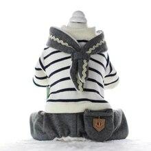 Купить с кэшбэком Dog Clothes For Small Dogs Winter Pet Coat Bluza Dla Psa Honden Hoodie Carlino Large Sweater Bouledogue Francais Costume 5d0016