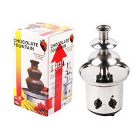New Mini Household 110V 220V Chocolate Fountain Machine 3 Tiers Hot Chocolate Triple Fondue Machine For