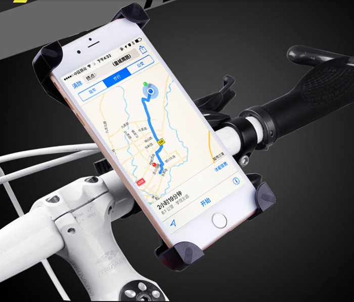 Ajustable soporte para teléfono celular móvil para bicicleta de manillar montaje