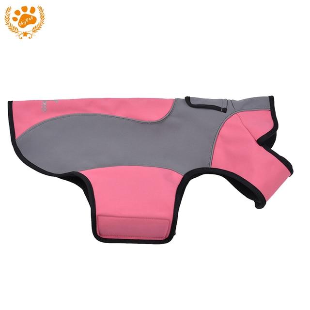 My Pet Spring Waterproof Fleece Dog Clothes Mascotas Wear-Resistant Warm Outdoor Coat Jacket Easy Wear Pink Roupa Para Cachorro