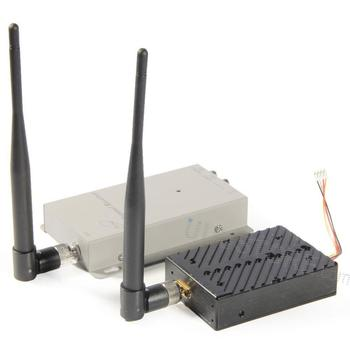 FPVOK 1.2Ghz 5W 5000MW Wireless AV Transmitter with 1.2G Receiver High Gain Antenna For CCTV Camera Monitor