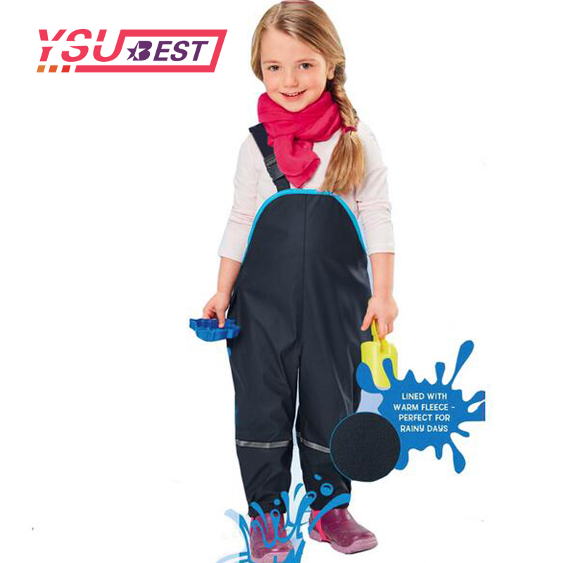 New Children Rain Pants Waterproof Trousers Padded Boys Windproof Outdoor Girls Piece Skiing Overalls Ski suit Outdoor Pants