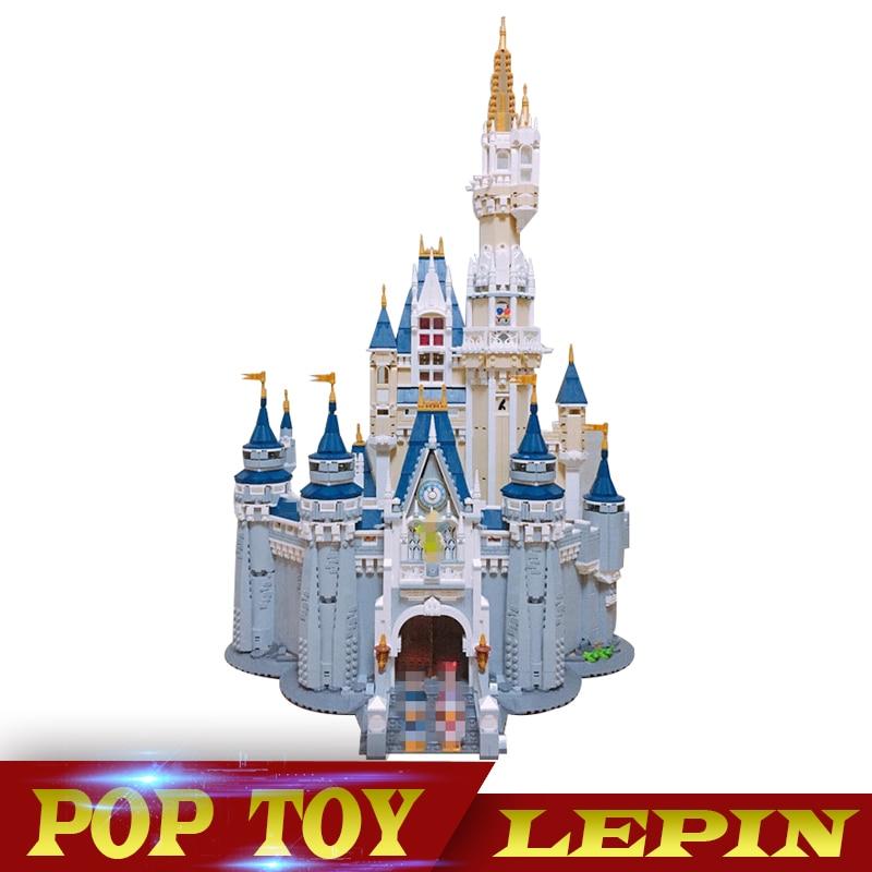 DHL LEPIN 16008 Cinderella Princess Castle City set Model Building Block Kid DIY Toy Funny Birthday Compatible legoed 71040 lepin 16008 lepin cinderella princess castle building block compatible legoing 71040 legoing cinderella princess castle set