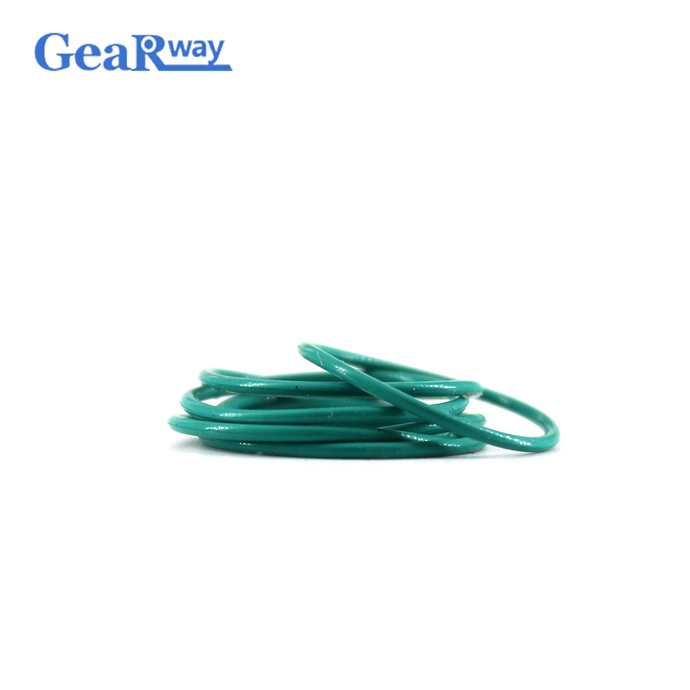 Gearway 1mm Thickness O Ring Seal Green FKM O-ring Seal Gasket 3/3.5/4/4.5/10/11/12mm OD Viton O Ring Sealing цена