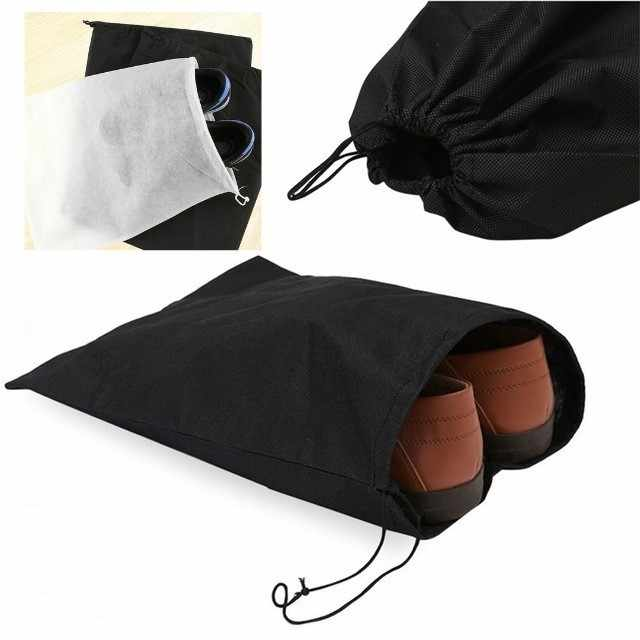 1pc Portable Shoes Bag Travel Storage Pouch Drawstring Dust Bags Non-woven Storage Bag