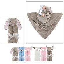 76 * 76см Baby Blanket Cute 3D Rabbit Bear Elephant Shape Одеяло Дети Дети Мальчики Девочки Кровать Одеяло Супер мягкий диван Пеленание