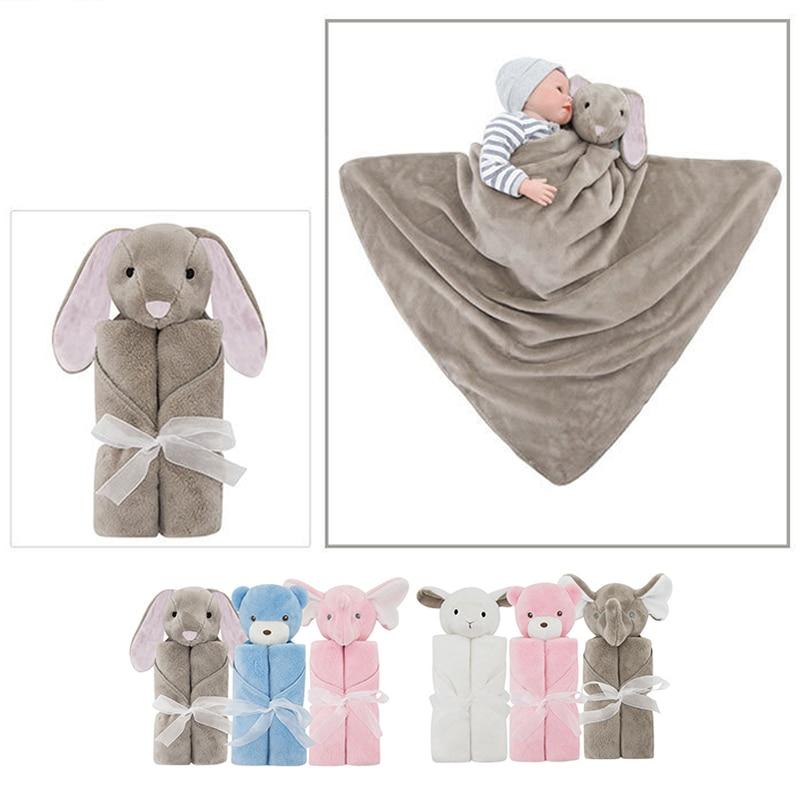 76*76cm Baby Blanket Cute 3D Rabbit Bear Elephant Shape Blanket Children Kids Boys Girls Bed Blanket Super Soft Sofa Swaddling
