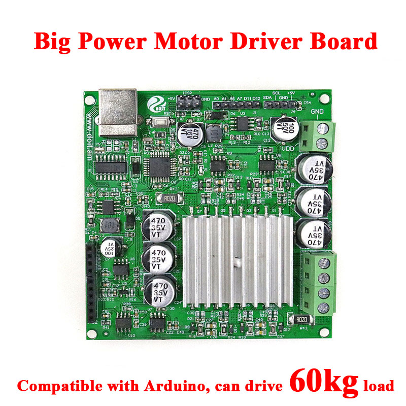 2 in 1 big power Motor Driver Control for Arduino shield Board DIY Large Load RC Robot Smart Tank Car wifi bluetooth by ps2 Toy 5v 2 channel ir relay shield expansion board for arduino