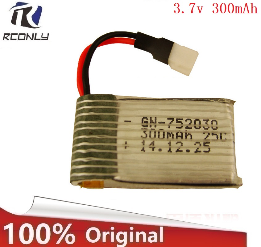 <font><b>3.7V</b></font> <font><b>300mAH</b></font> Wholesale <font><b>Battery</b></font> For 1306Udi FT530 Remote controul helicopter 3.7 V 300 mAH 15C XH plug 752540 image