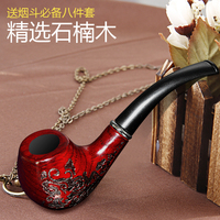 Briar Handmade Wood Carved Smoking Pipe Filter Tobacco Grain Cigarette Holder Portable Chinese Specialty