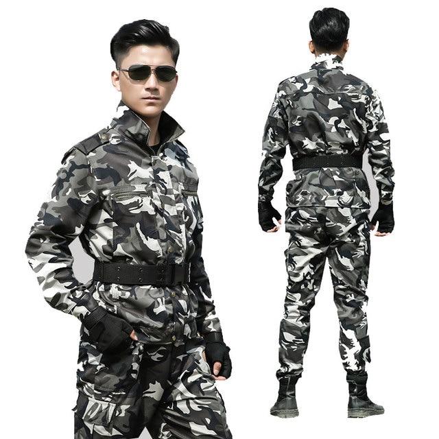 1b57335f876 Traje de uniforme militar SWAT Fuerzas Especiales traje de camuflaje táctico  ejército ropa de combate masculino
