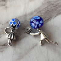 Authentic 925 Sterling Silver Boy Proposed To Girl Charm Valentine's Day Gift Beads Fit European Original Troll Bracelet Jewelry