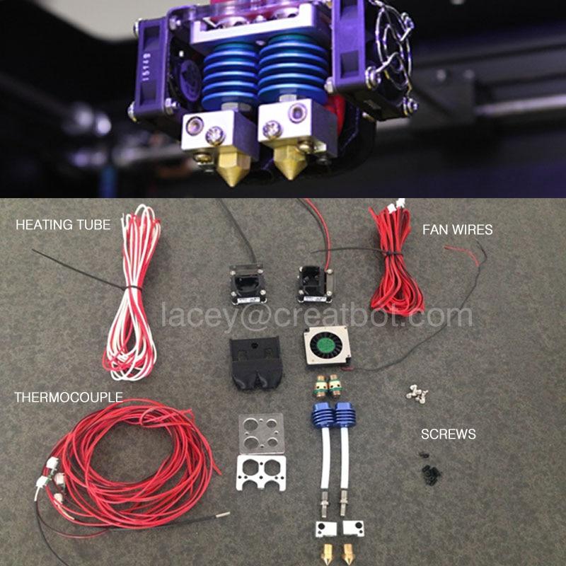 CreatBot DX және PLUS принтерлер үшін экструдерлік бөлшектерді жаңартады Бастапқы CreatBot аксессуарлары сатуға арналған 400 градус экструдер
