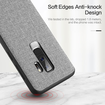 FLOVEME Cloth Texture Case For Samsung S8 S9 Galaxy S9 S8 Plus Luxury TPU Cover For Samsung S10 Plus S10e Note 9 8 S7 Edge Coque