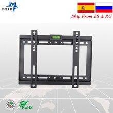 Evrensel sabit TV duvara montaj düz ekran braketi HDTV düz Panel TV sabit montaj için 14 17 19 22 25 28 29 32