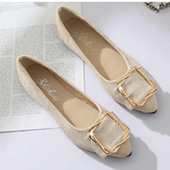 Women fashion shoes flats with buckle work shoes office wear fashion comfortable women shoes