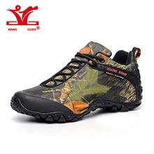 Xiang guan водонепроницаемые туристические ботинки мужская парусиновая Camo casualclimbing тапки женские камуфляжные De pêche загрузки анти skidproof