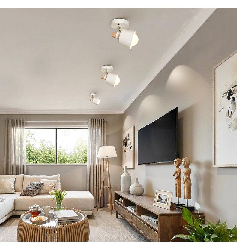 HTB1sZP1XoCF3KVjSZJnq6znHFXas EL LED Ceiling Light Iron Wood Nordic Modern Ceiling Lamp for Living Room Bedroom Decoration Fixture Corridor Kitchen