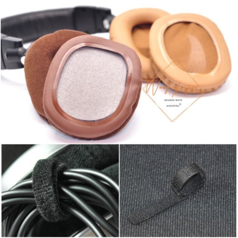 Brown Velour Gold Leather Ear Pads Cushion EarPads Covers For Audio Technica ATH-M50 M50S M50X M40 M40S M40X Headphone Earmuff