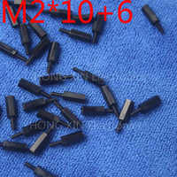 M2*10+6 1pcs Black nylon Standoff Spacer Standard M2 Male-Female 10mm Standoff Kit Repair parts High Quality
