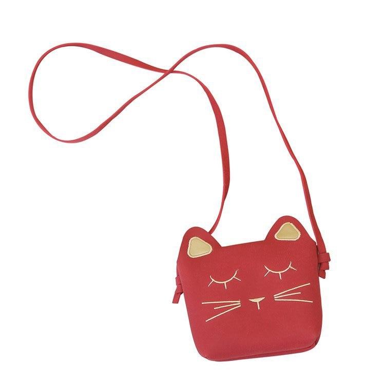 Mode Kinder Prinzessin Kleine Nette Kat Messenger Tasche Mädchen Mini Pu Leder Frauen Umhängetasche Schulter Taschen Nette Katze Baby Tasche Angenehm Im Nachgeschmack