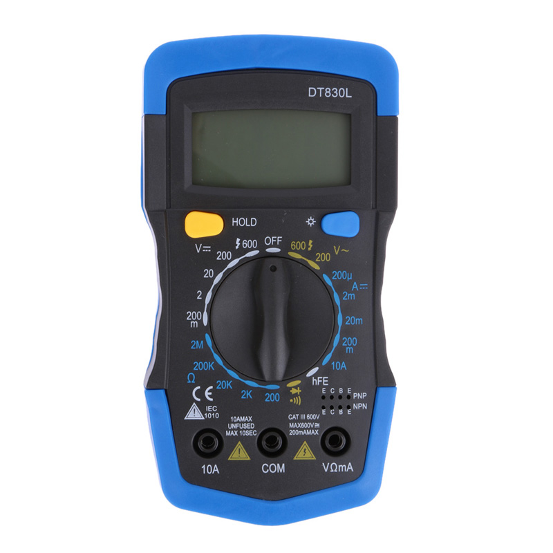 Multimeter For Home : Dt l electrical tester digital voltmeter ammeter
