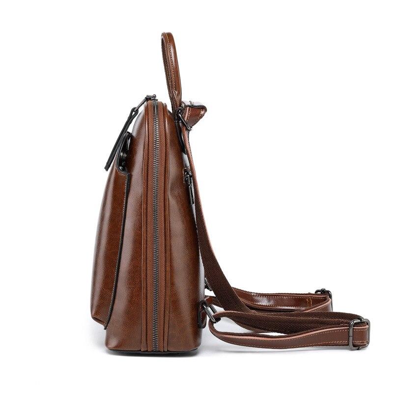 F FPY, Брендовые женские рюкзаки, винтажные женские рюкзаки с заклепками в виде буквы V, дорожная сумка на плечо, кожаный рюкзак для подростков, рюкзак школьный для ноутбука - 3