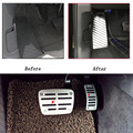 Stainless Car Accelerator Gas Brake pedal Clutch Pedal Rest pedal For Audi 2016 Q7 Interior Refit Decorative stickers styling