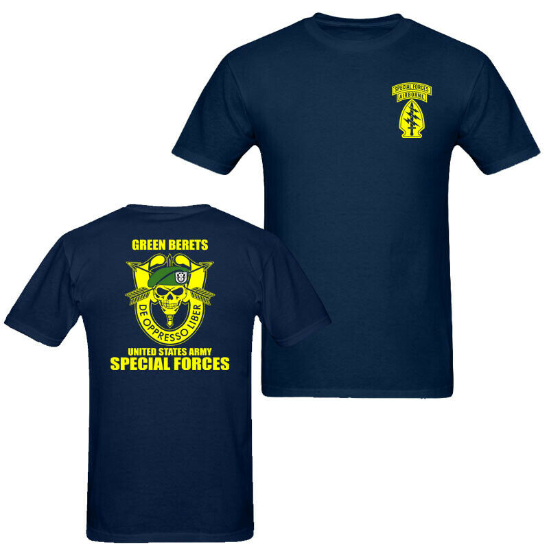 2019 Fashion Double Side Green Berets United States Army Special Forces Unisex T Shirt Tee Unisex Tee